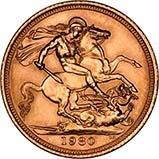1980 Gold Sovereign Elizabeth II EF 22417