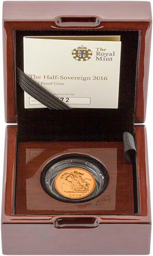 2016 Gold Half Sovereign Elizabeth II Proof 23343
