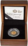 2009 Gold Quarter Sovereign Elizabeth II Proof Presentation Box