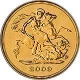 2009 Gold Half Sovereign Elizabeth II Bullion Reverse