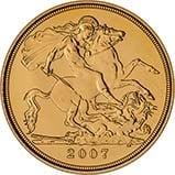 2007 Gold Half Sovereign Elizabeth II Bullion Reverse