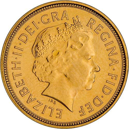 2005 Gold Half Sovereign Elizabeth II Bullion Obverse