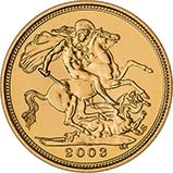 2003 Gold Half Sovereign Elizabeth II Bullion Reverse