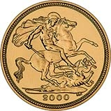 2000 Gold Half Sovereign Elizabeth II Bullion Reverse