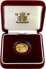 2000 Gold Half Sovereign Elizabeth II Proof Presentation Box