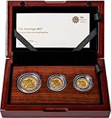 2017 Whole Coin Set Sovereign - 3 Coins Gold Proof Presentation Box
