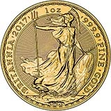2017 1 oz Gold Coin Britannia Bullion 25230