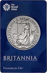 2016 1 oz Silver Coin Britannia In Card Bullion 25120