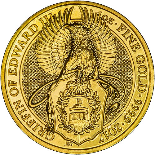 2017 Gold Queens Beasts Griffin 1 Oz Coin Chard
