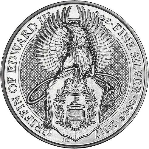 2017 Silver Queen S Beasts Griffin 2 Oz Bullion Coin Chard