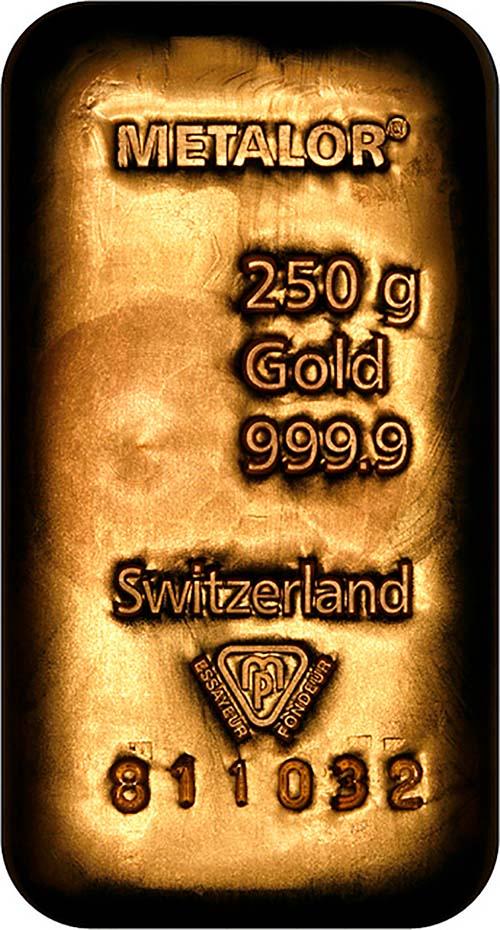 250gram gold bar