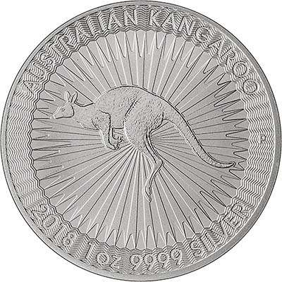 2018australia1oz1dollarkangaroosilverrev400