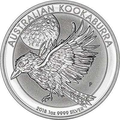 2018australia1oz1dollarkookaburrasilverrev400