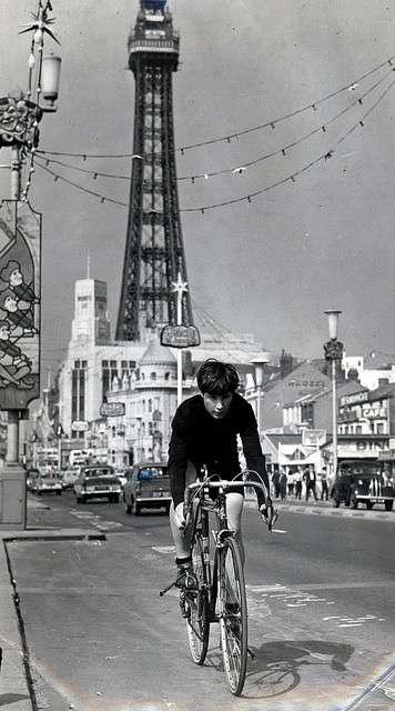 LC on bike in Blackpool