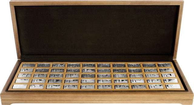 Thousand Years of British Monarchy Sterling Silver Mint Edition Collection in Wooden Box
