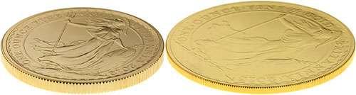 2012and2013goldbritannia100poundoneouncecoinreliefsidebyside500