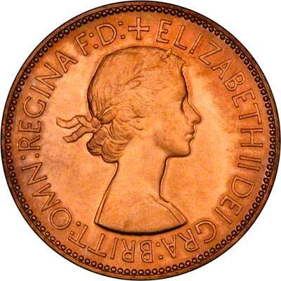 1953 One Penny Coin Obvervse