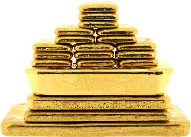 gold bar stack