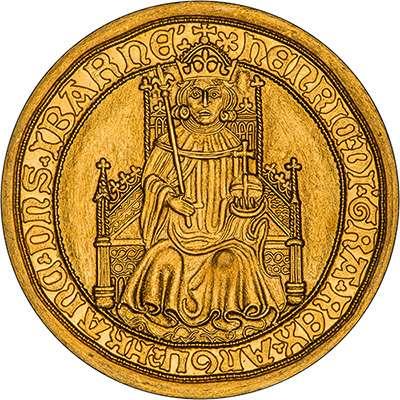 1489 Henry VII Gold Sovereign - Replica Coin